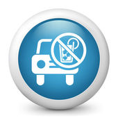 """Icon depicting the symbol of """"not drive in a state of intoxication"""" — 图库矢量图片"""