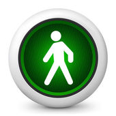 Icon depicting a pedestrian traffic light — Stock Vector