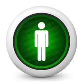 Icon depicting a pedestrian traffic light — Stock Vector