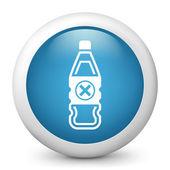 Bottle containing liquid dangerous — Stock Vector