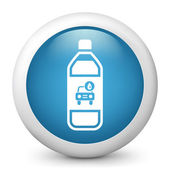 Bottle of carwash soap — Stock Vector