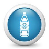Flaska som innehåller vätska farliga — Stockvektor