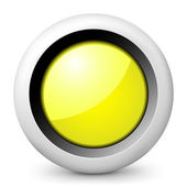 Vector glossy icon depicting yellow traffic light — Stock Vector