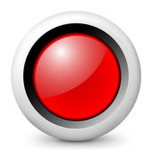 Vector glossy icon depicting red traffic light — Vettoriale Stock