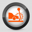 Vector illustration of gray and orange icon depicting car collision — Stock Vector #21995463
