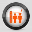 Vector orange and gray isolated icon. — Stockvektor