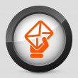 Vector orange and gray isolated icon. — Stock Vector
