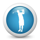 Icône représentant le joueur de golf en action — Vecteur