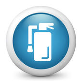 Vector blue glossy icon depicting extinguish — Stock Vector