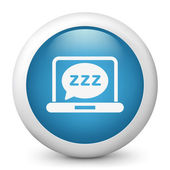 "Vector blue glossy icon depicting ""sleep"" symbol — Stock Vector"