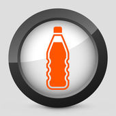 Illustration vectorielle d'une icône grise et orange représentant une bouteille — Vecteur