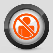 "Vector illustration of a gray and orange icon depicting ""access forbidden"" — Stock Vector"