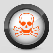 Vector illustration of a gray and orange icon depicting a danger signal — Stock Vector