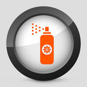 Vector illustration of a gray and orange icon depicting a spray — Stock Vector