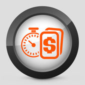 "Vector illustration of a gray and orange icon depicting ""for sale"" sign — Vecteur"
