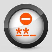 """Vektor-illustration des ein symbol des grau und orange mit symbol """"passwortabfrage — Stockvektor"""