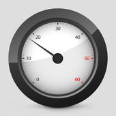 Vector black and gray isolated icon depicting tachometer — Stock Vector