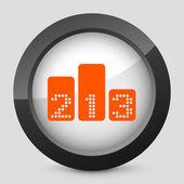 Vector icono aislado naranja y gris. — Vector de stock