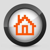 Vektor orange och grå isolerade ikonen. — Stockvektor