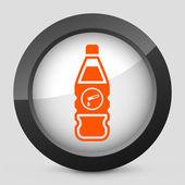 矢量橙色和灰色的孤立的图标. — 图库矢量图片