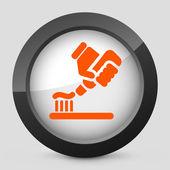 Orange und grau isoliert symbol vektor. — Stockvektor