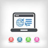 Resebyrå webbplatsens ikon — Stockvektor