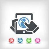 Tablet access forbidden icon — Stock Vector