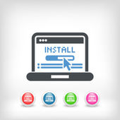 Pc install icon — Stock Vector