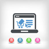 E-commerce website icon — Stock Vector