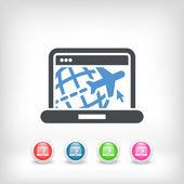 Travel web agency icon — Stock Vector