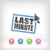 """Last minute"" web grunge cartel — Stockvektor"