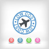Lowcost airline icon — Stock Vector