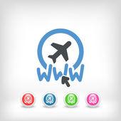 Webbplatsens resebyrå ikon — Stockvektor