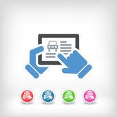 Automotive website on tablet — Stock Vector