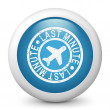 Last minute airline icon - Stock Vector