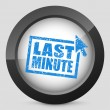 "Vector de stock : ""Last minute"" web grunge cartel"