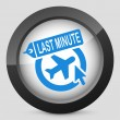 Stock Vector: Last minute airline link icon