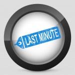 Last minute label — Stock Vector