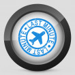 Last minute airline icon — Stock Vector