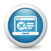 Rezerwacja samolotu w sieci web — Wektor stockowy