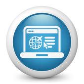 Icono del sitio web de agencia de viajes — Vector de stock