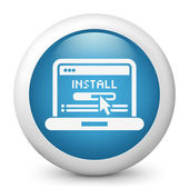 Pc installatiepictogram — Stockvector