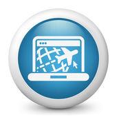 путешествия веб агентства значок — Cтоковый вектор