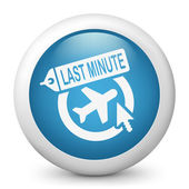 Last minute airline link icon — Stock Vector