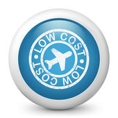 Low-cost fluggesellschaft stilisierte grunge-ikone — Stockvektor