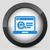 Booking train ticket on internet — Stock Vector