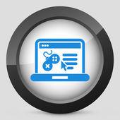 Videogame website icon — Stock Vector