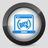 Buy button on website — Stock Vector