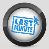 """Last minute"" web grunge cartel — Stock Vector"