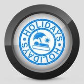 Holidays summer stamp grunge — Stock Vector